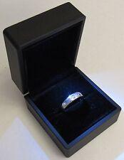 Black LED Lighting Jewelry Engagement Wedding Ring Gift Box BR00001
