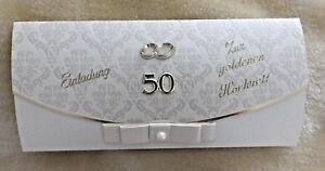 Details Zu Einladungskarten Einladung Zur Goldenen Hochzeit Goldhochzeit Umschlag