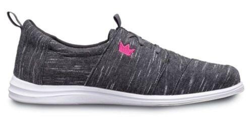 Womens Brunswick ENVY Bowling Shoes Charcoal Sizes 6-11 /& Purple 1 Ball Bag