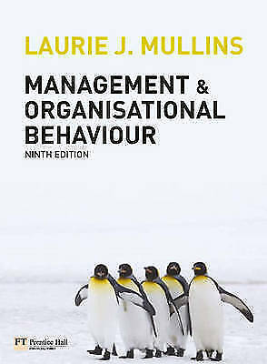 1 of 1 - Management and Organisational Behaviour Plus MyLab Access Code, Mullins, Laurie