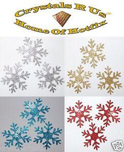 GLITTER 2inch SNOWFLAKE iron-on CHRISTMAS GIFT IDEA FUN CUSTOM DIY GARMENT PATCH