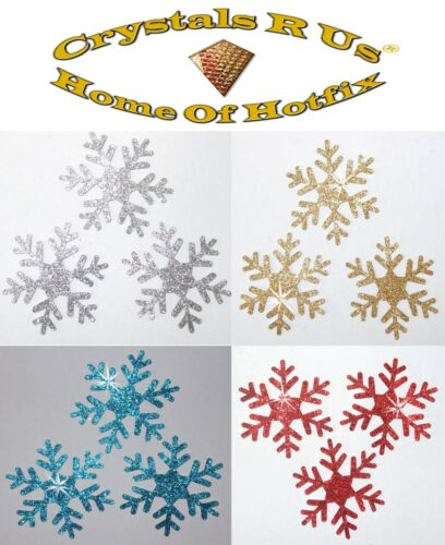 Paillettes 2inch flocon thermocollants idée cadeau de Noël Fun Personnalisé Bricolage Vêtement patch