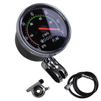 Vintage Black Bicycle Bike Speedometer Analog Mechanical Odometer With Hardware