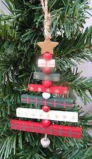 Gisela Graham Slatted Wooden Christmas Tree Decoration