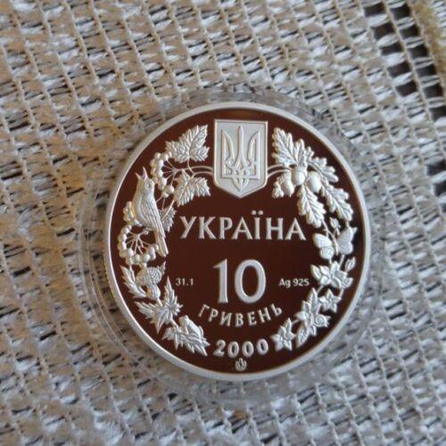 POTAMON TAURICUM 2000 Ukraine 1 Oz Silver Proof 10 UAH Freshwater Crab KM# 121