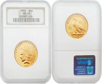 USA 1932 Indian Head Gold $10 Gold NGC MS63