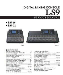 yamaha ls9 16 ls9 32 mixing console service manual and repair guide rh ebay com yamaha ls9-16 manual pdf yamaha ls9-16 user manual
