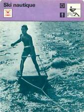 FICHE CARD: De l'Aquaplane au Monoski Origines  Water skiing Ski nautique 1970s