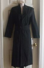 Boudicca Couture Italy 2006 Line US 6/ UK10 Black Belted Women's Trench Coat
