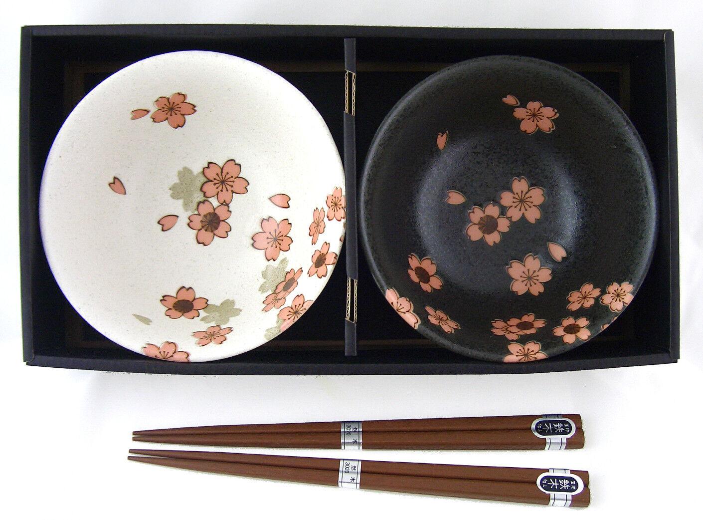 Suppenschalen Geschenk-Set SAKURA NISHU Japan Porzellan Suppenschüssel Ø 14,5 cm | Lebhaft und liebenswert