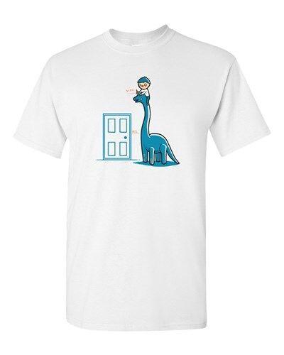 Randy Otter Dino Height Dinosaur Funny Arts Cute Portray DT Adult T-Shirt Tee