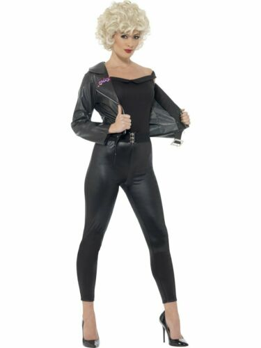 CA192 Ladies Grease 50s Bad Sandy Final Scene Costume 1950s Party Black T-Bird