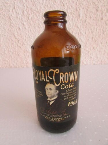 Empty Royal Crown Cola Bottl One piece Brown Color