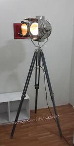 Designer-Antique-Style-Grey-Tripod-Floor-spotlight-Lamp-Nautical-Tripod-Light