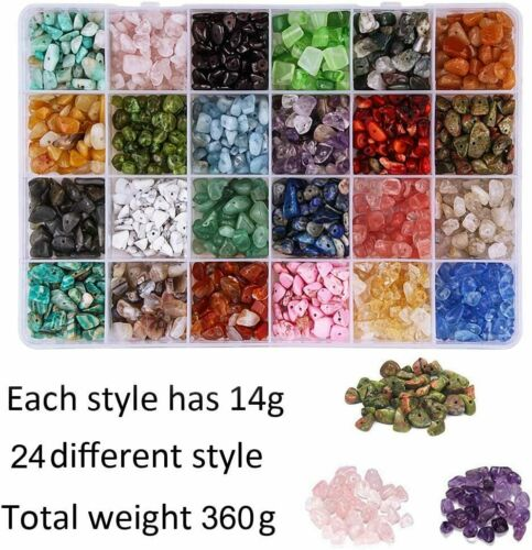 Natural Gravel Beads Freeform Chips Gemstone Beads Set Kits  For DIY Jewelry