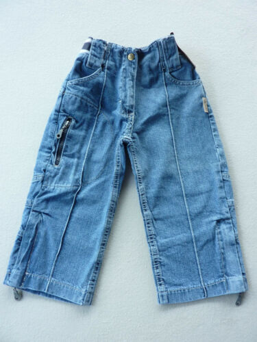 Details about  /Children Pants Girl Trousers Jeans Cargo Caprilänge Size 116-152 FUN New