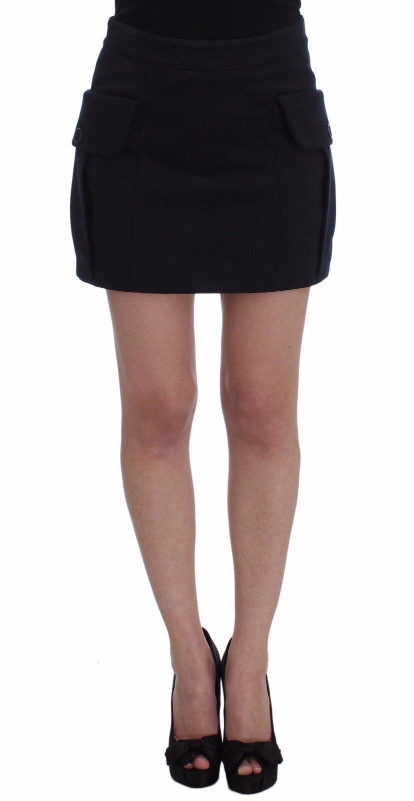 NEW  220 GF Gianfranco FERRE Skirt bluee Cotton Denim Mini Above Knees IT40  US 6