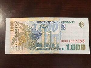 Romania P-106 1000 Lei Year 1998 Uncirculated Banknote Europe