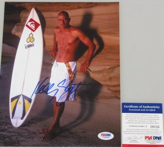 KELLY SLATER Hand Signed 8'x10' Photo 4 + PSA DNA COA BUY GENUINE KELLY SLATER