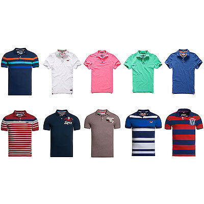 Men's Superdry Polo T-Shirts in Various Styles and Colours