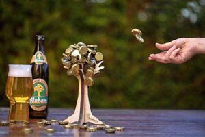 Bierbaum-BiaBam-magnetischer-Kronkorkenhalter-Trinkspiel-Geschenk-Biertrinker