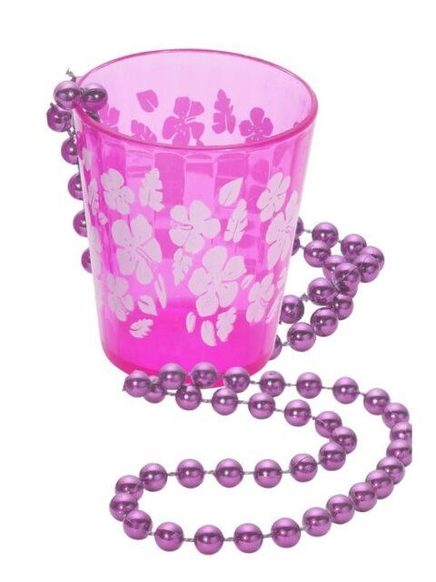 Schnapsglas zum Umhängen Junggesellinnenabschied Zubehör Kette Trinkkette pink