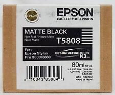 Epson Stylus Pro T5808 MATTE BLACK Ink Cartridge for 3800/3880 Exp 4/13 SEALED