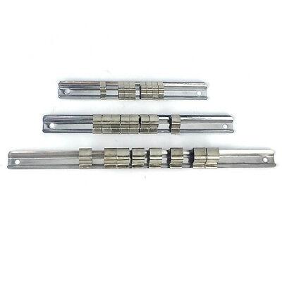 New 3x Socket Rack Storage Divider Rail Tray Organizer  Holder 1//4/'/' 3//8/'/' 1//2/'/'