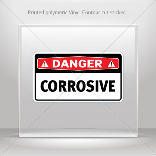 Stickers Sticker Danger Corrosive Helmet Motorbike Bike Garage st5 X8WW9