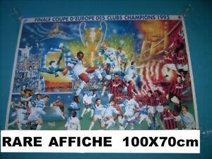 RARE-AFFICHE-Ultras-Finale-coupe-d-039-europe-des-clubs-champions-1993-OM-Milan-AC