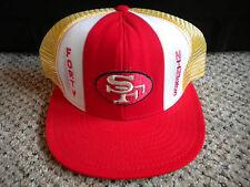 Vintage NFL San Francisco Forty Niners 49er's AJD Lucky Stripes hat cap Montana