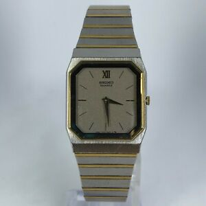 Vintage-Seiko-Mens-7430-5359-Gold-Silver-Tone-Stainless-Steel-Band-Analog-Watch