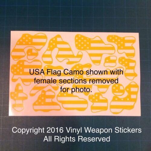 Cerakote Krylon! USA Flag Camo Stencil Pack for Duracoat