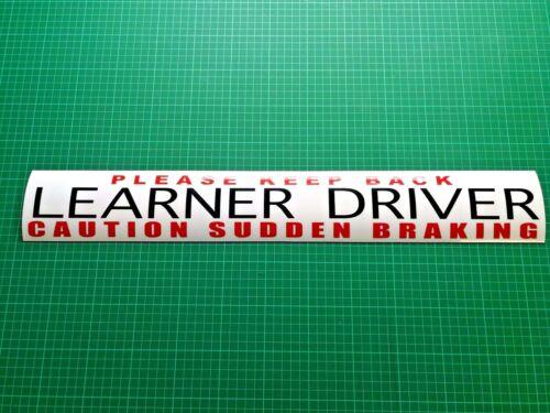 Driving Instructor MAGNET Learner driver CAUTION SUDDEN BRAKING  Keep Back