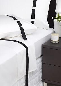 New-DAVINCI-EDINBOROUGH-BLACK-White-500-TC-100-4-Piece-KING-Size-SHEET-SET