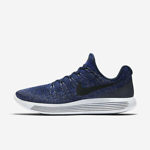 Nike Lunarepic Low Flyknit 2 Sz 10.5 College Navy/Concord 863779-406 FREE SHIP