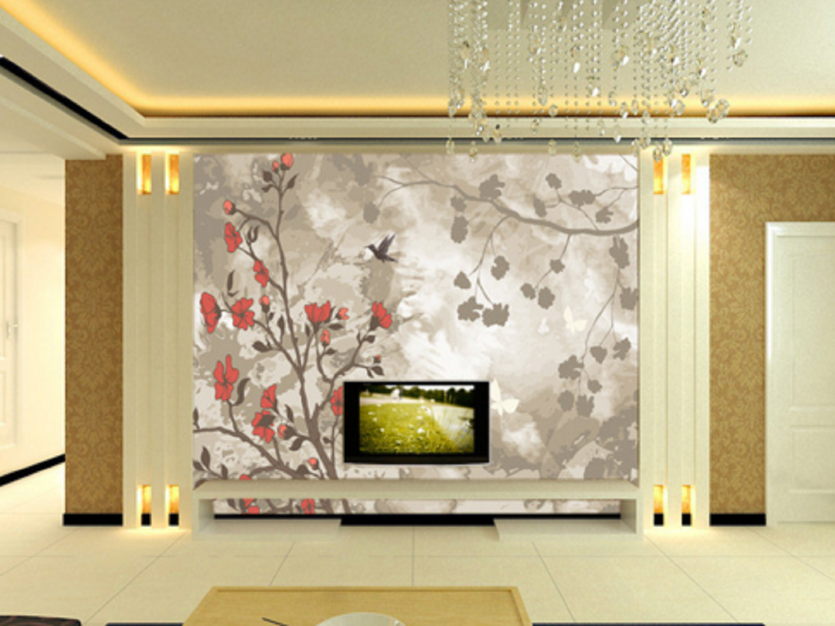 3D Dunkler Himmel Blumen Vogel 45 Tapete Tapeten Mauer Foto Familie Wandgemälde
