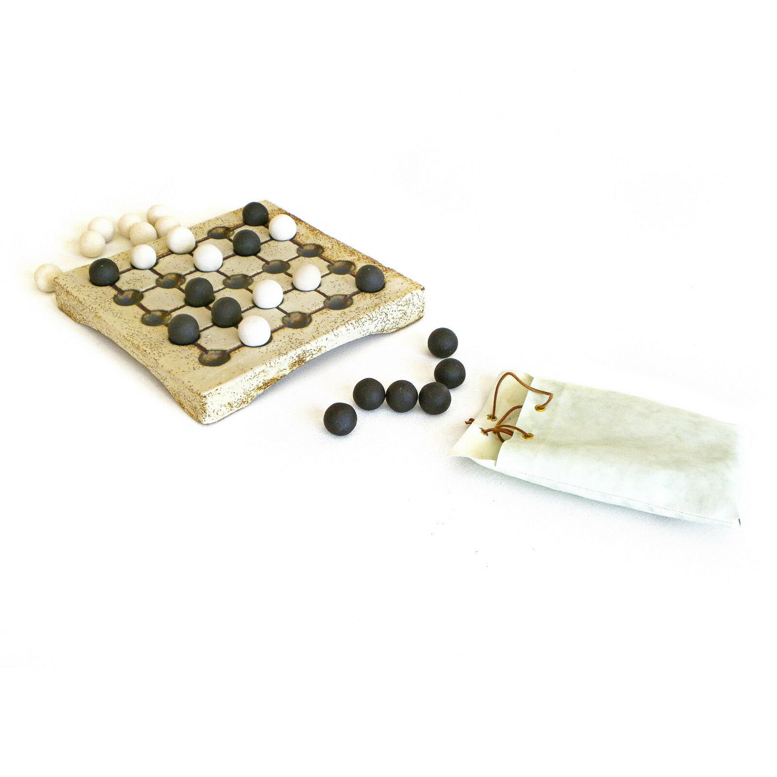 Seega Decorative Board Game Game Game - Premium Handmade Ceramic Replica Set. 10  5a8fac