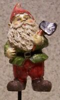 Garden Accent Green Gnome On A Stake