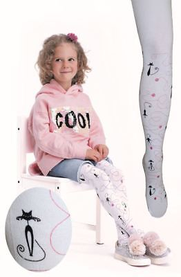 Kids White Patterned Tights NORKA by Knittex Girls 40 Denier