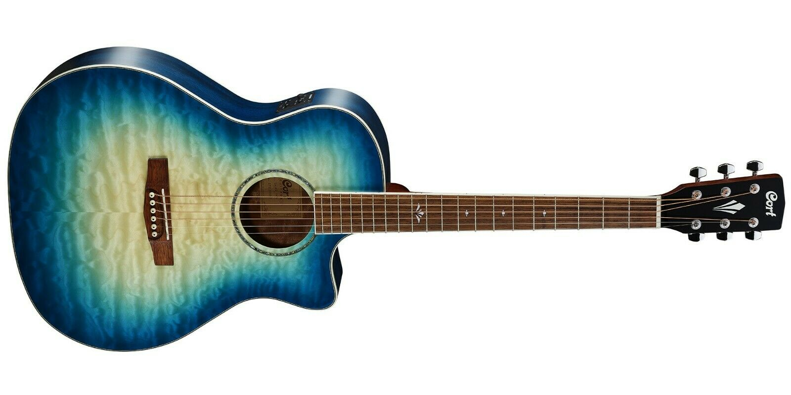 Cort Electro Acoustic Guitar With Bag - Grand Regal Series - GA-QF-BG-CBB