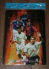 1998 PUZZLE SHEET Football Ronaldo Zinedine Zidane Luis Figo Real Owen Rivaldo