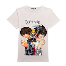 Anime Death Note L Lawliet T-Shirts Short Sleeve Cotton Tee Summer Casual Tops