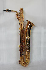 Pro Gold lacquer Baritone Saxophone with Front F & high F key, by Eastern music