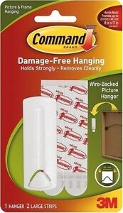3M COMMAND WIRE BACKED HOOK  POSTER HANGING STRIPS  17041 PICTURE PRINT FRAME AR 5051395100740