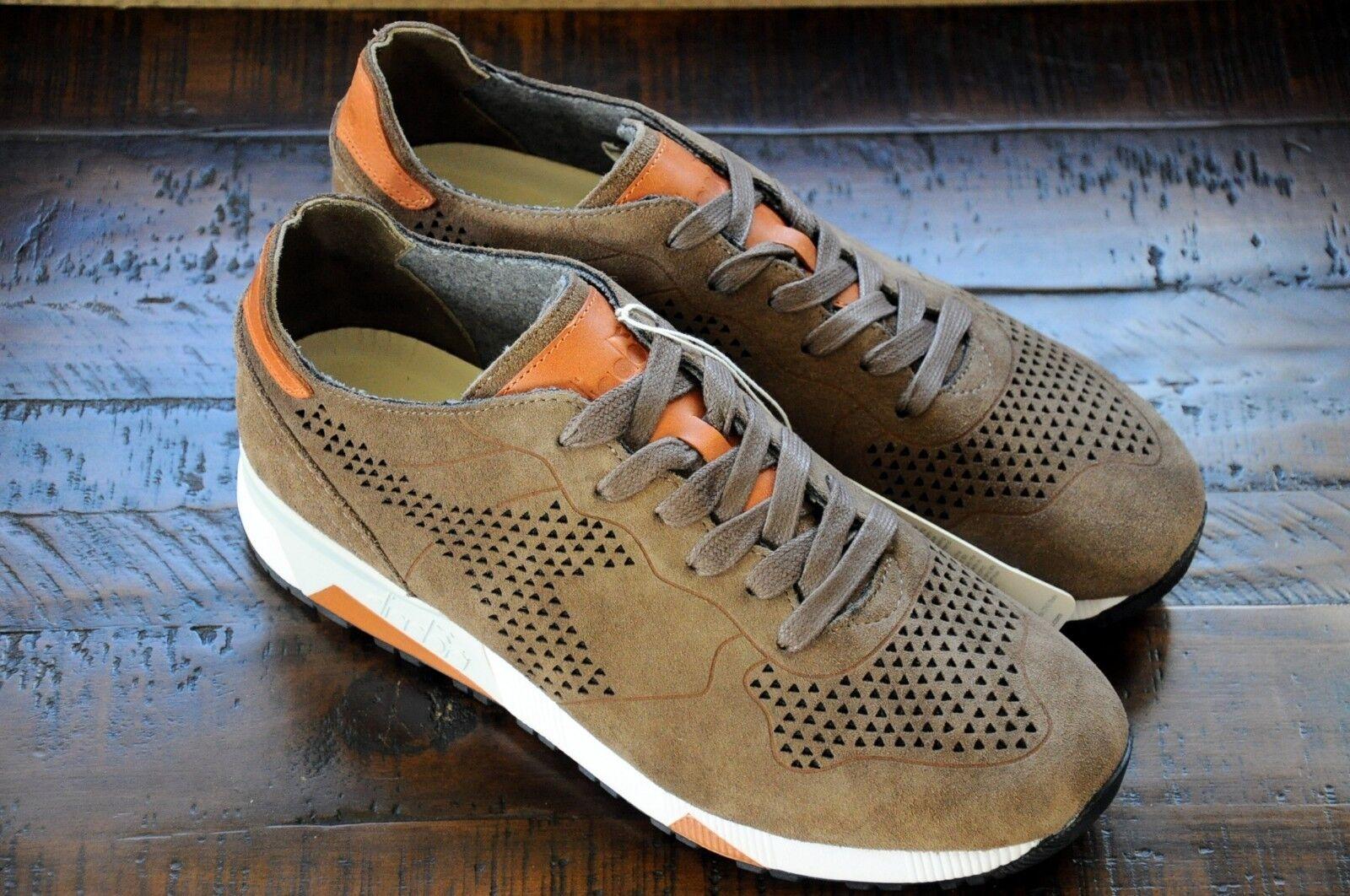 Diadora Heritage TRIDENT 90 SUPERIOR PERF Leather Sneakers- Men's US 9.5 New