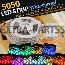 Waterproof 5050 RGB Multicolor Battery Powered Led Flexible Light Strip 2M 200CM