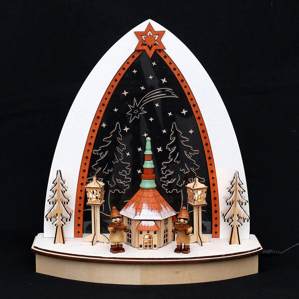 3D Led Arc à Lumière à Bougies Verre Acrylique 2 Kinder Figurines D´ Hiver 32