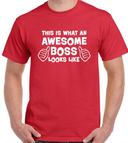Mens Funny T-Shirt Joke Present Gift Employer Awesome Boss