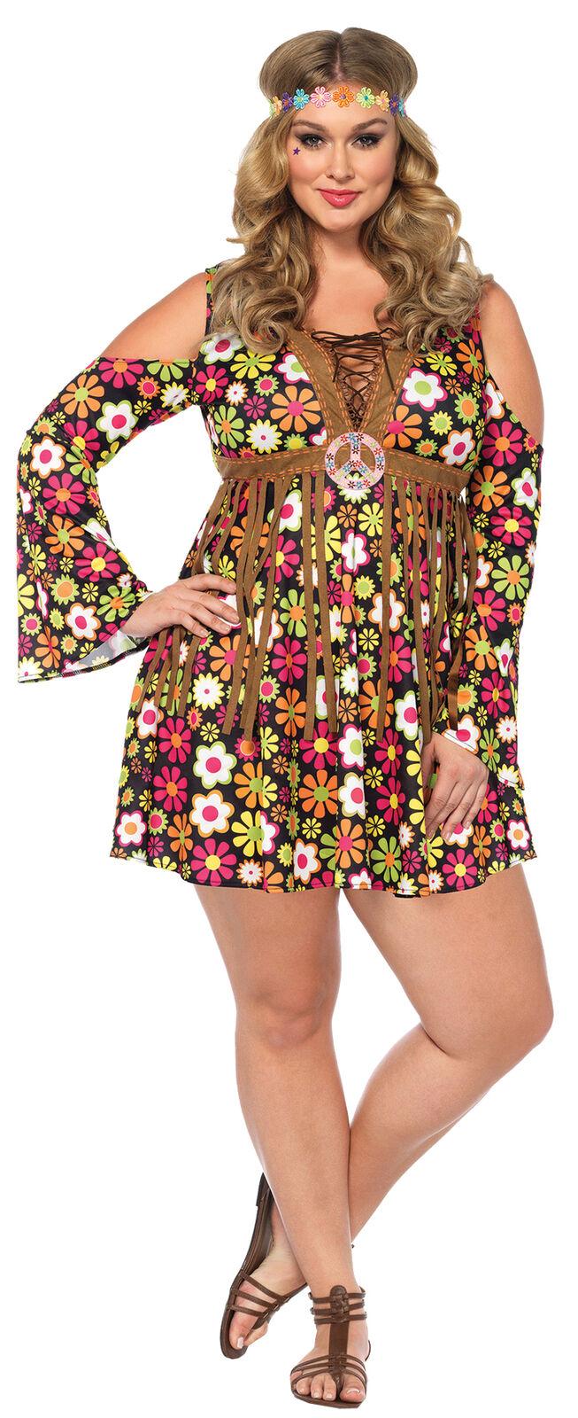 Hippie Starflower Adult Women's Costume Multi Color Fancy Dress Leg Avenue